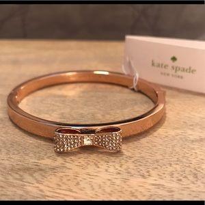 NWT Kate Spade Ready Set Bow Bracelet (ROSE GOLD)